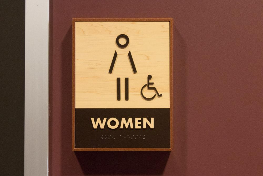 ADA restroom signage
