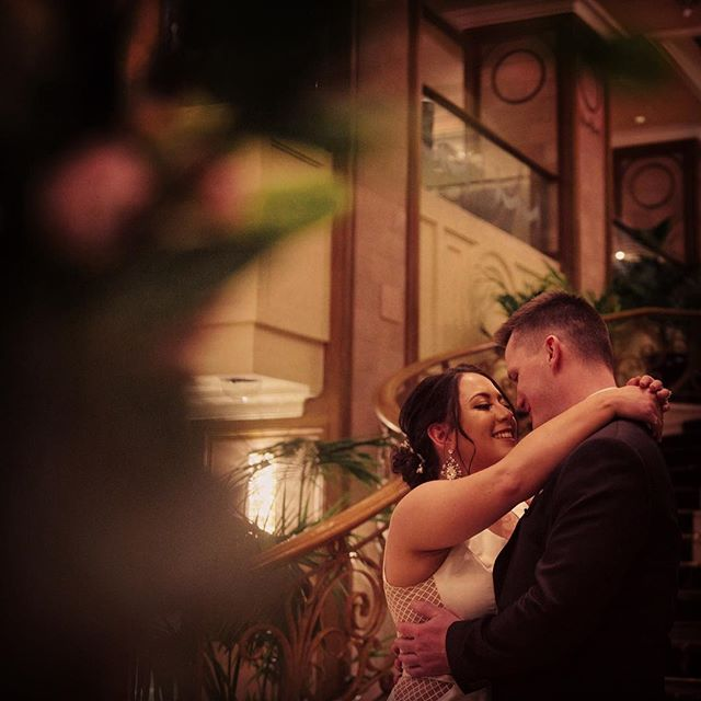 I love this moment of David and Valentina, captured just seconds after they first saw each other on their wedding day. They both got ready at the Langham Hotel, and David was waiting at the bottom of the beautiful staircase to welcome his bride before their ceremony started.... www.roberthock.com.au #roberthockphotography #married #melbournewedding #melbourneweddingphotographer #weddingday #weddingphotography #melbournebride #love #wedding #weddingstyle #weddingdress