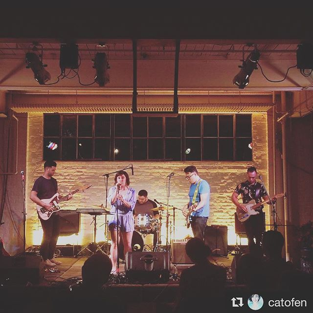 """Thank you for having us @gatewaycityarts!  And thank you to all who came out and supported the release of """"serifs&ligatures"""" - if you missed it, the full EP is now available on iTunes and Spotify! Link in bio!"""