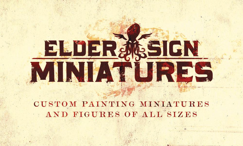 Elder Sign Miniatures branding
