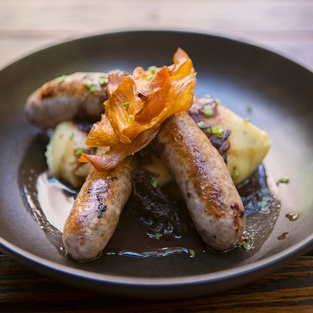Hungry for a Monday #LoveYourLunch special?  Bangers & Mash with Scarfos Pork & Fennel Sausages, Mustard Mash & Onion Gravy for only $15. Available 11:30am-2:30pm today! . . . . . #eatdrinkperth #thestablesperth #perthtodo #perthdrinks #urbanlistperth #perthwa #perthisok #perthlife #pertheats #perthcity #perthbars