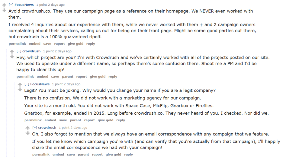 "Look at this actual Reddit exchange. Holy crap.  ""We always have an email correspondence..."""