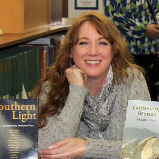 KB Ballentine has a M.A. in Writing and a M.F.A. in Creative Writing, Poetry. Her latest collection, The Perfume of Leaving, was awarded the 2016 Blue Light Press Book Award. Her work also appears in River of Earth and Sky: Poems for the Twenty-first Century (2015), Southern Poetry Anthology, Volume VI: Tennessee (2013) and Southern Light: Twelve Contemporary Southern Poets (2011).