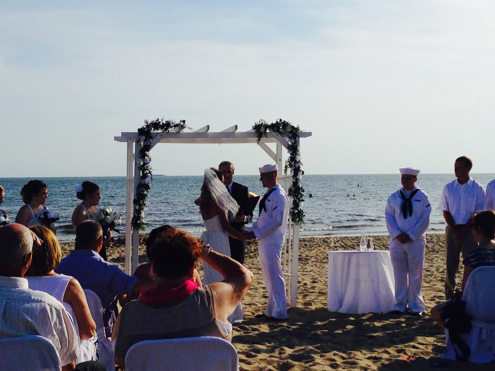 Beach Wedding at Anthony's Oceanview in New Haven CT