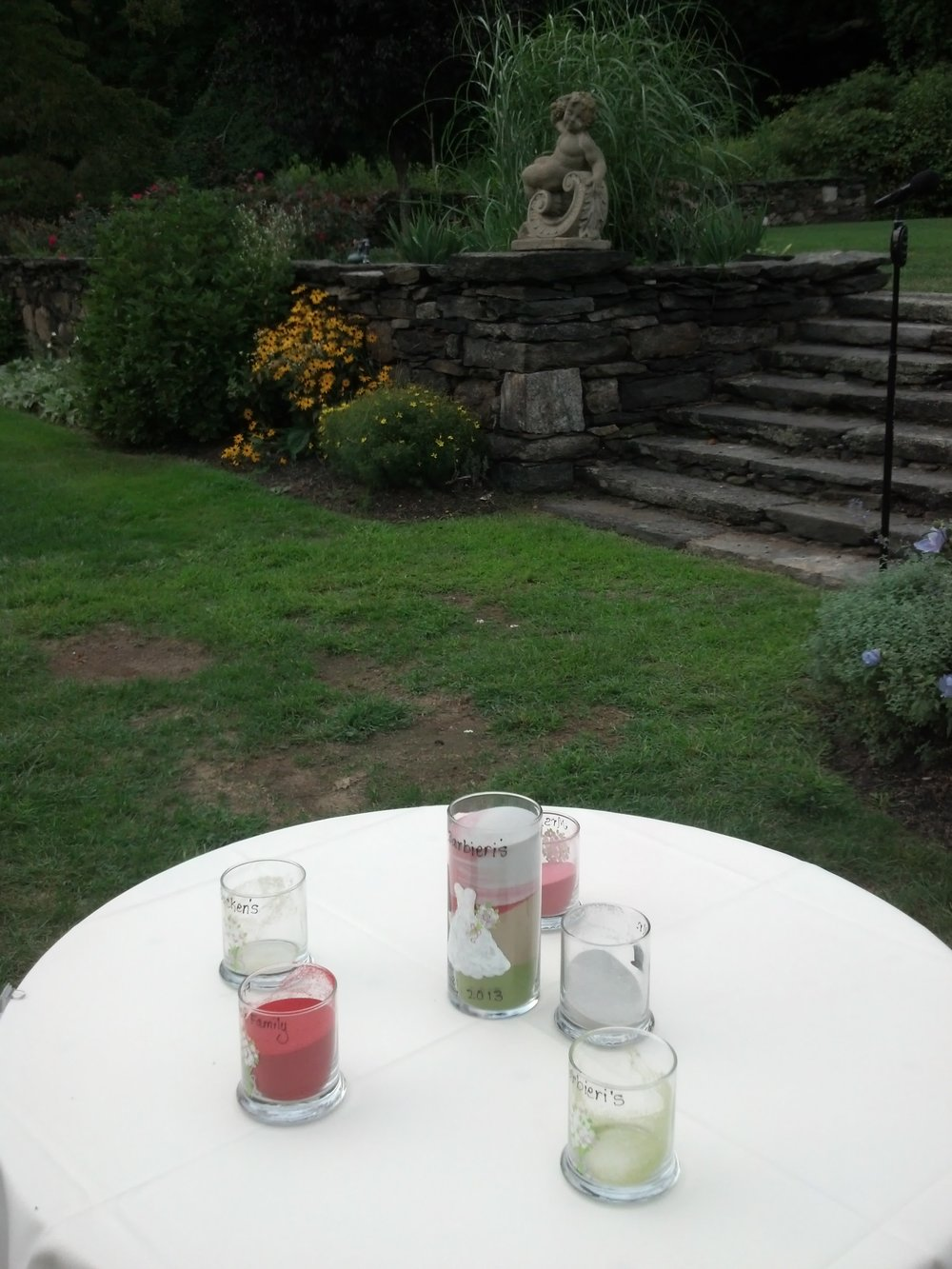 Sunken Gardens Ceremony site at St. Clements Castle in Portland CT