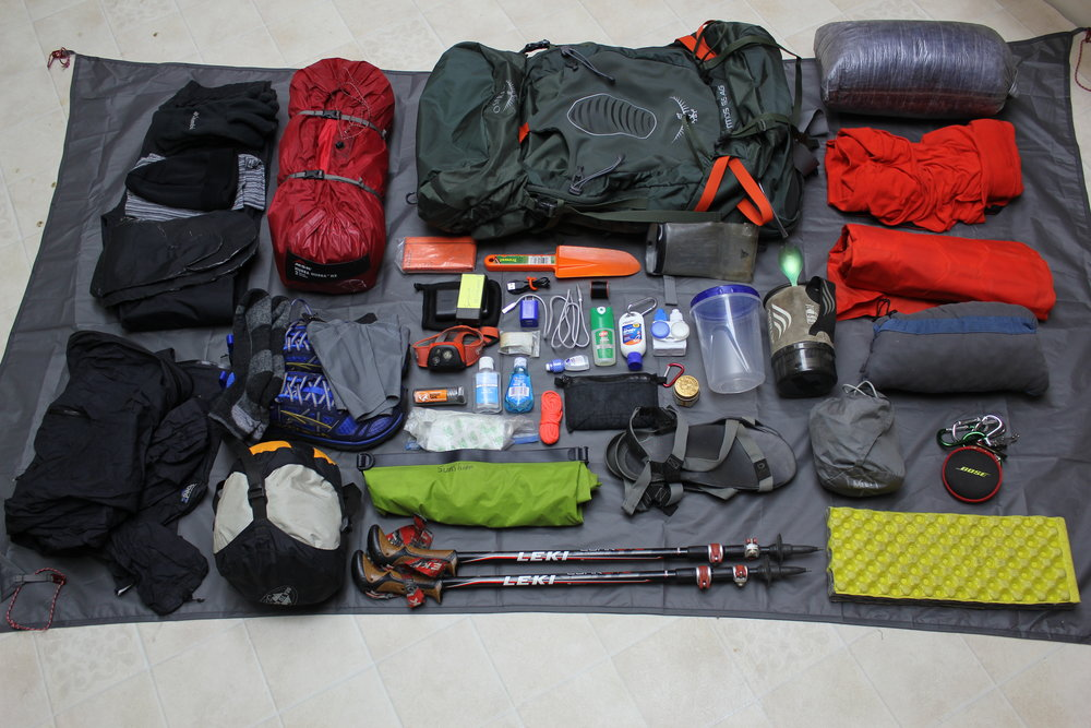 Gear that I'll have for the entirety of the Appalachian Trail.