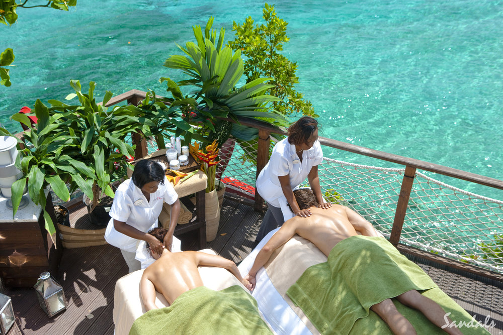 A couples massage at Sandals