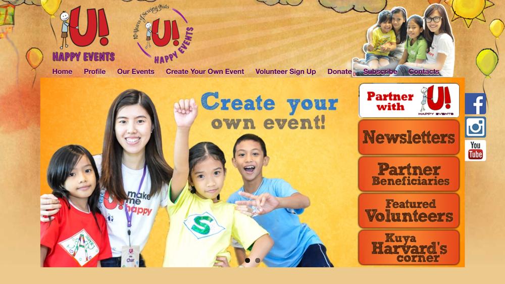 *U!HappyEvents' current website