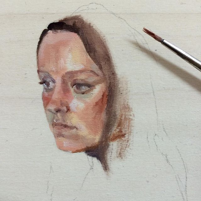 Quick painting study #painting #oilpainting #tiny #art #portrait #study