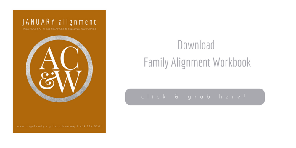 January Family Alignment Workbook 2018