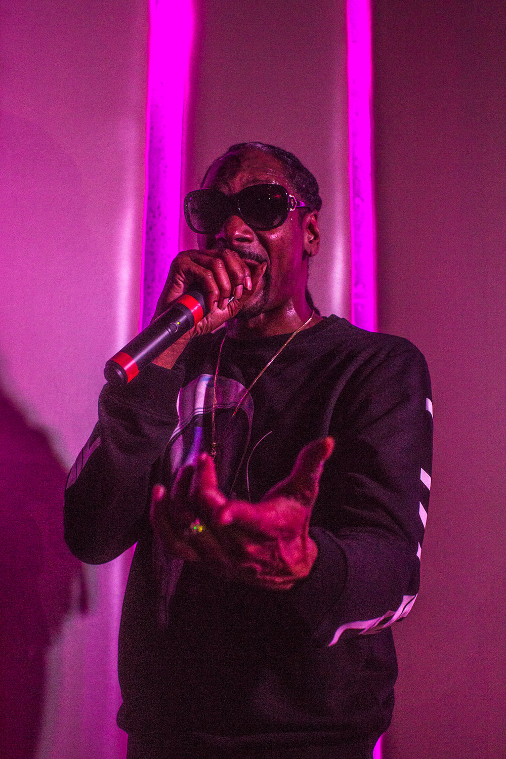 Snoop Dogg performing during a private show at Bootsy Bellows in Aspen.