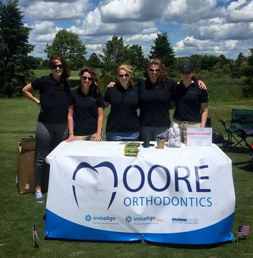Moore Orthodontics team supporting the Lake Zurich community