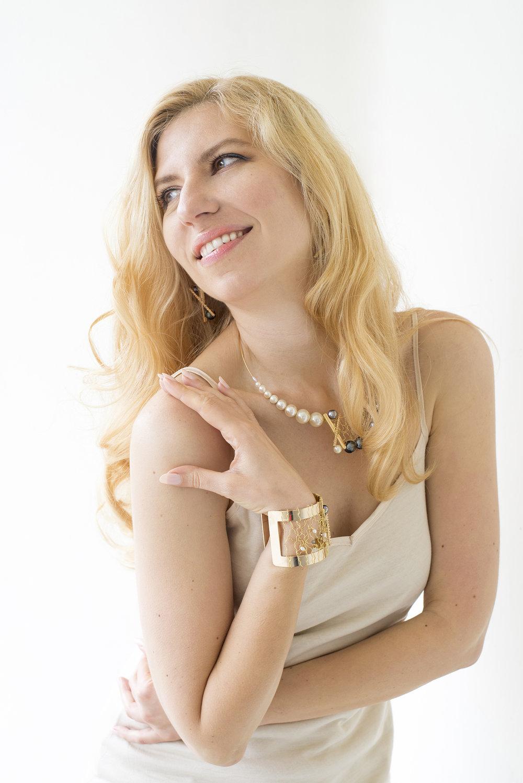 Portrait of jewelry designer Oksana Bello photographed in Portland, Oregon by Lillian Short.