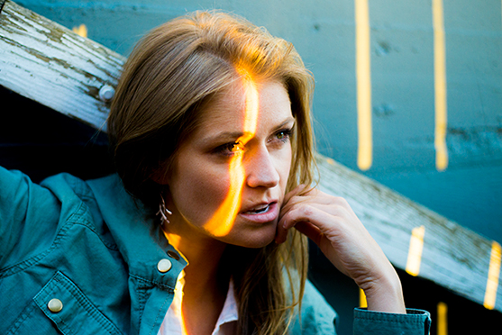 Portrait of model Kerry Mann photographed in Portland, Oregon by Lillian Short