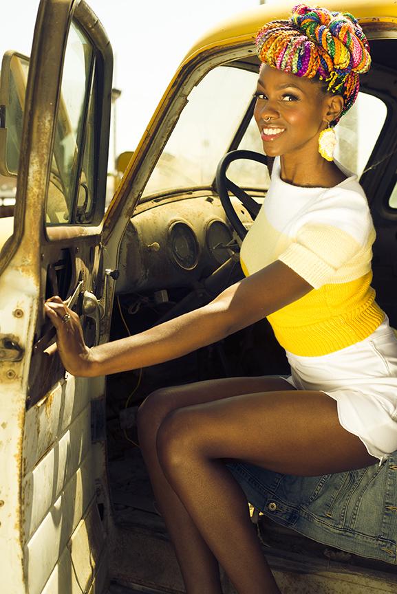 Model poses for photographer Lillian Short in Hanford, California.