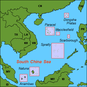 Public domain photo of the approximate location of Scarborough Shoal