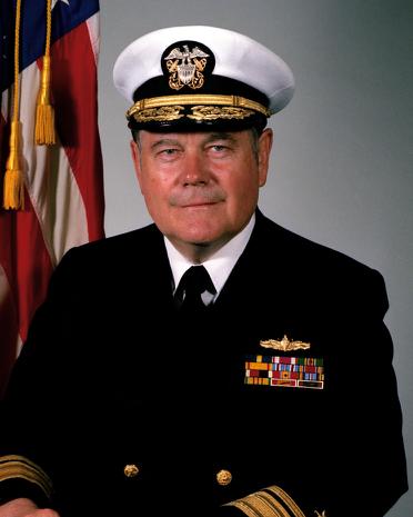 Figure      SEQ Figure \* ARABIC    1      . Rear Adm. Wayne E. Meyer. Photo: US Navy