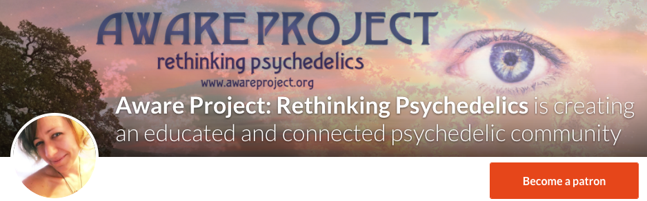 aware project rethinking psychedelics patreon donations