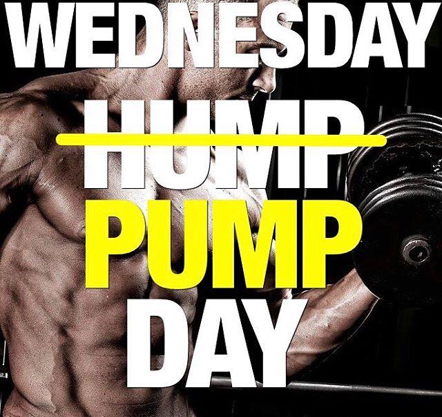 #humpday #wednesday #pump #gym #gymlife #gymwear #bodybuilding #flex #instafit #fitness #fitfam #gymmemes