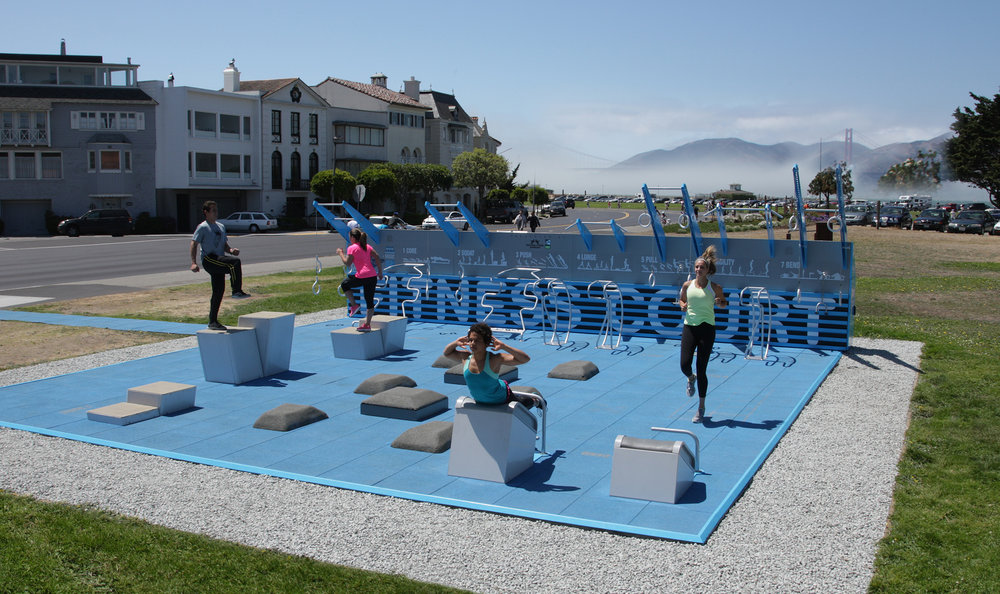 San Francisco Fitness Court Pilot at the Marina Green