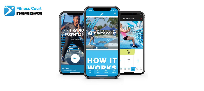 Screenshots of j&j official 7 minute workout app user interface.