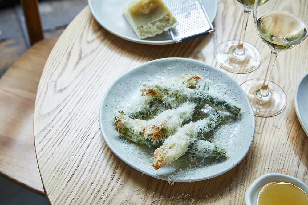 Zucchini Flowers | pecorino, truffle honey