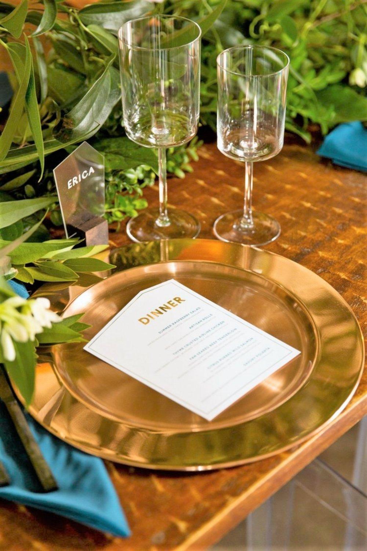 geometric dinner menus