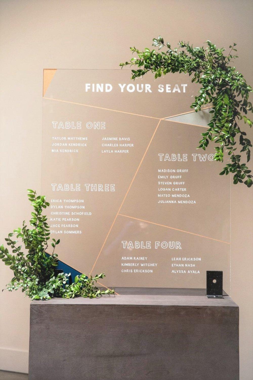 acrylic seating chart