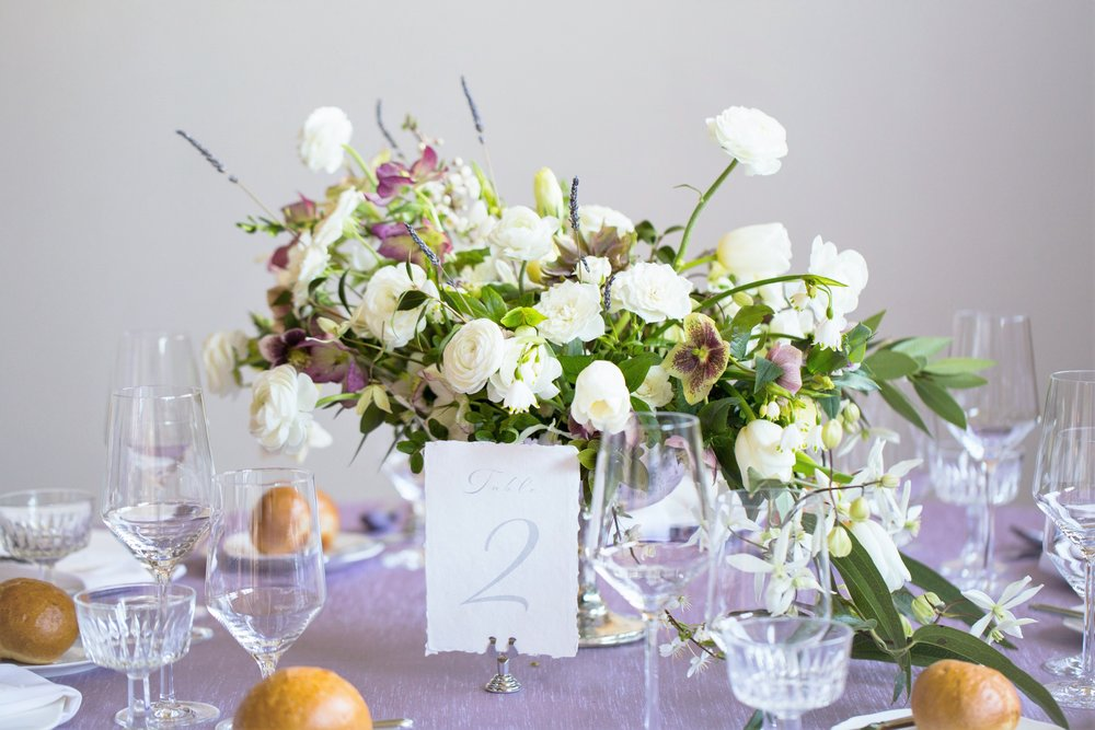 french garden wedding reception table