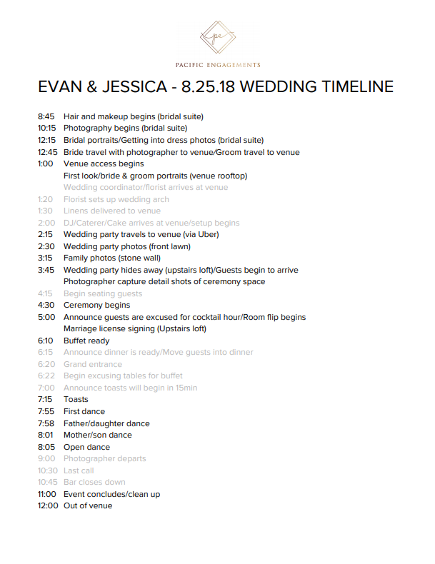 how-to-make-a-wedding-timeline