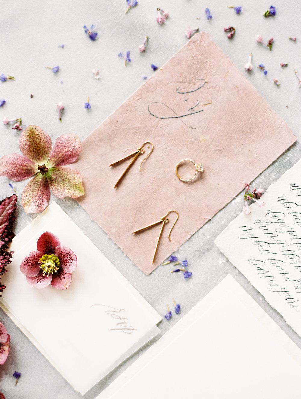Dusty Rose Wedding Invites