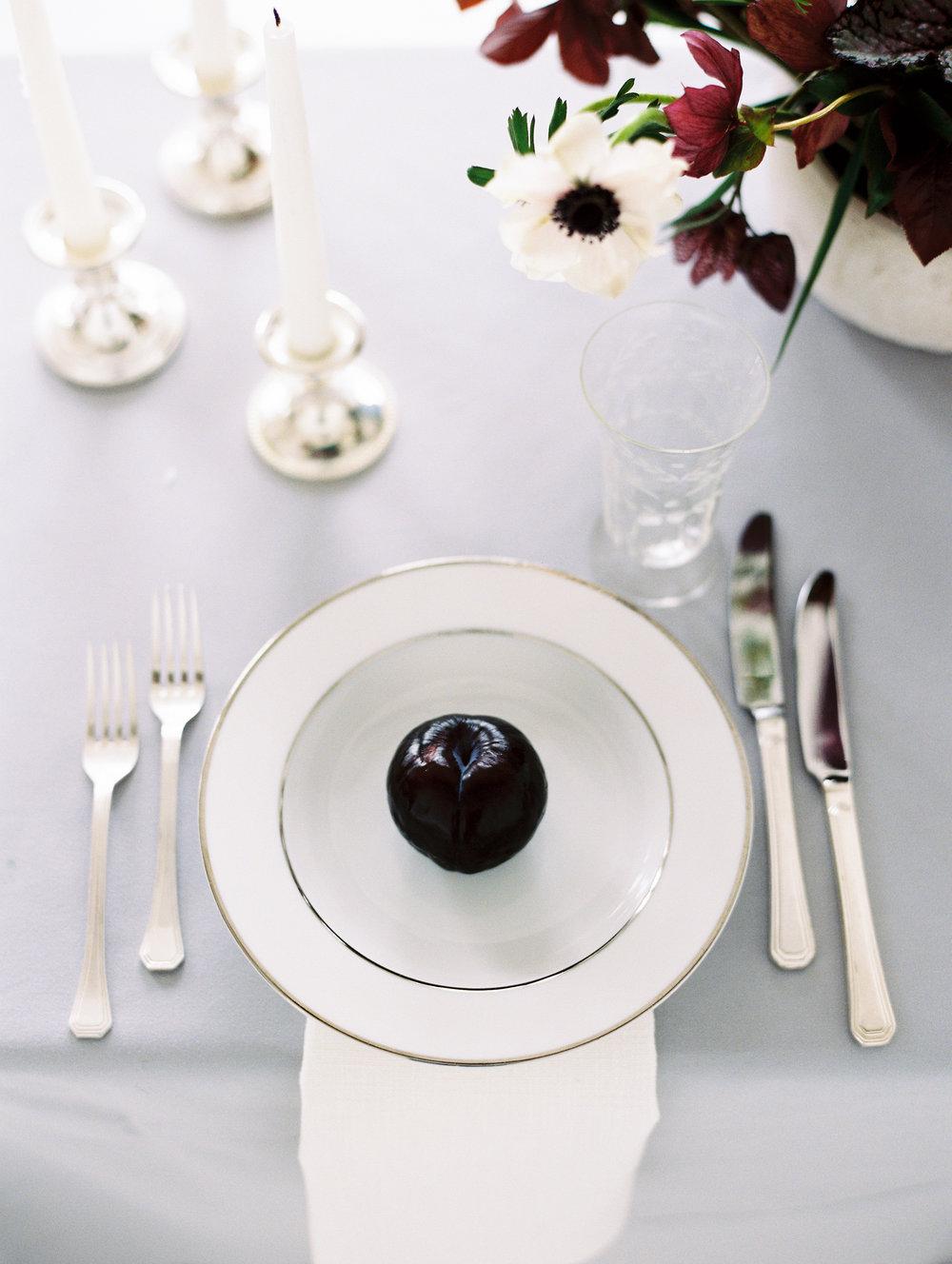 Fruit Table Setting Wedding