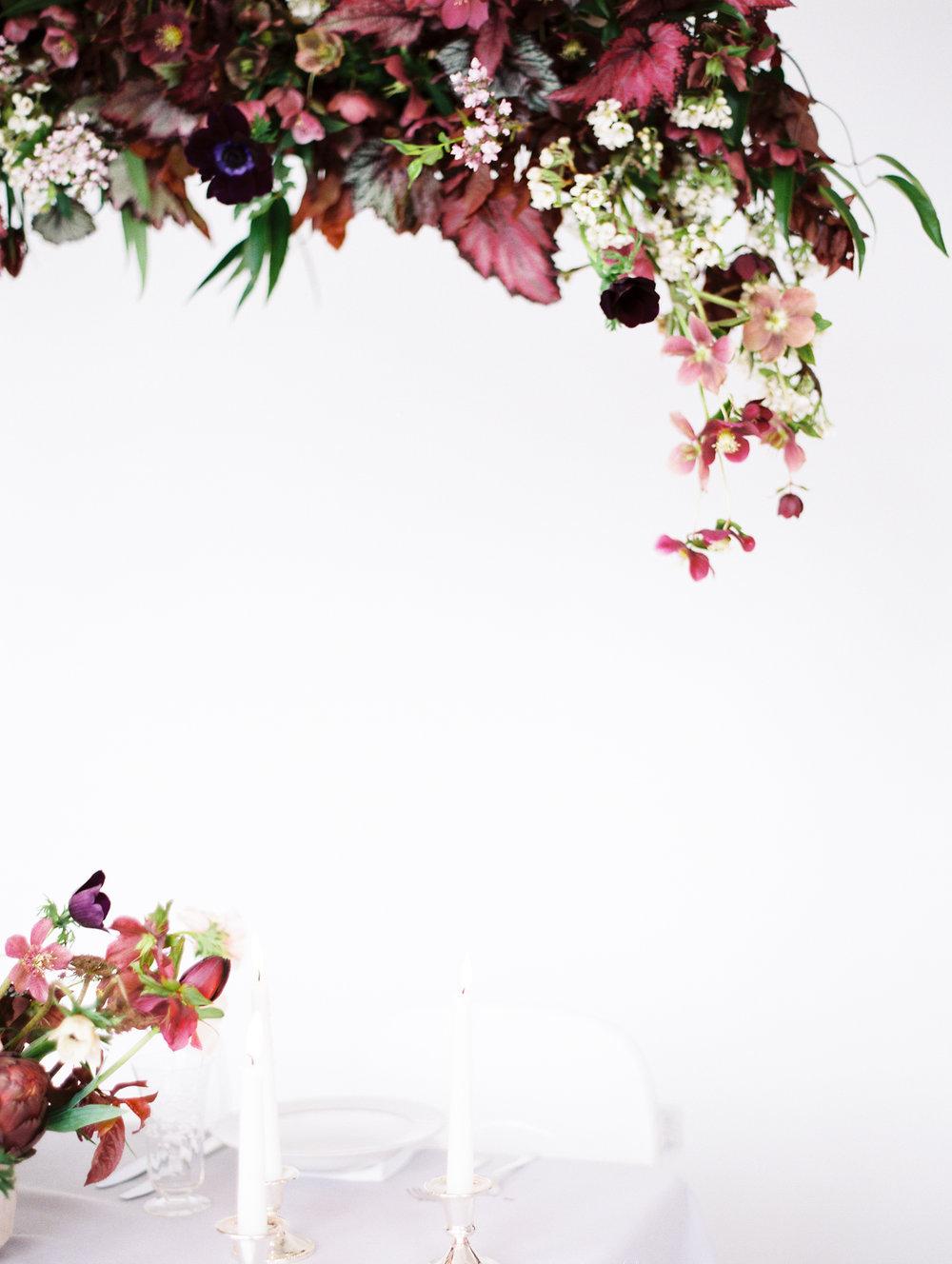 Hanging Floral Installation Wedding