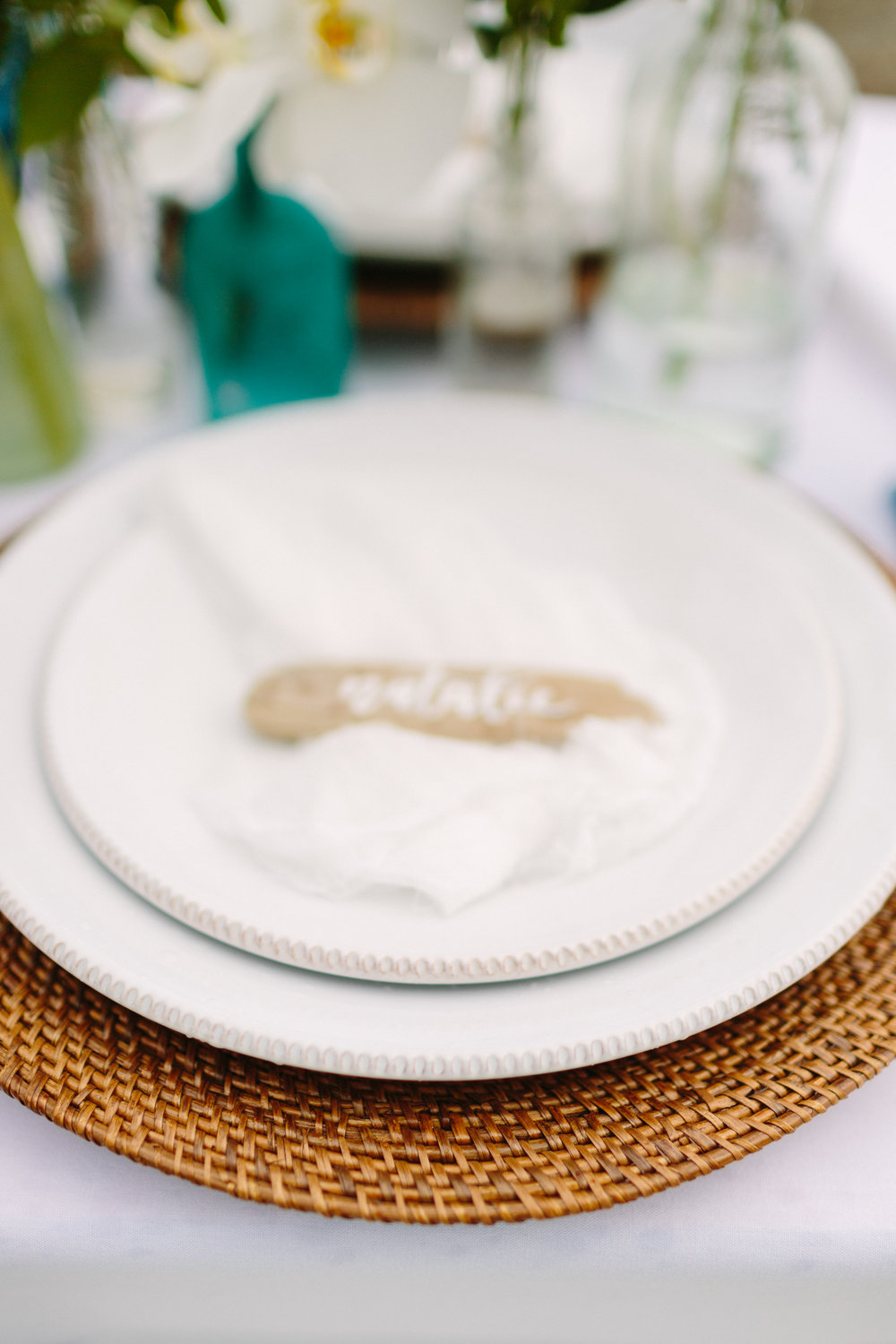 driftwood place cards