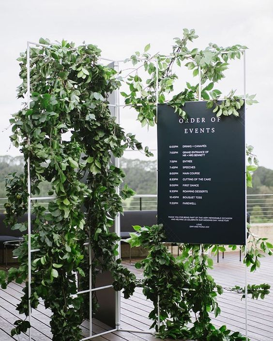 Modern Wedding Reception Sign