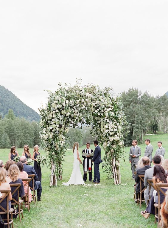 Lush Greenery Wedding Ceremony Arch