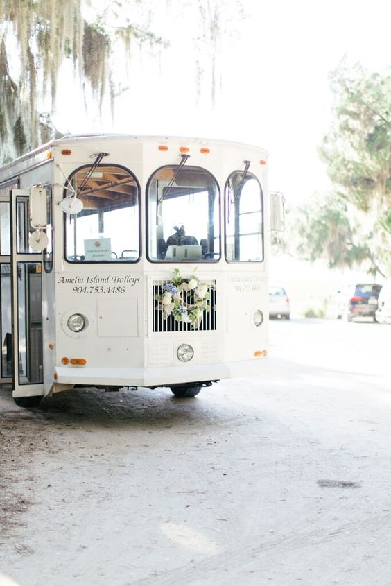 cute wedding transportation for guests