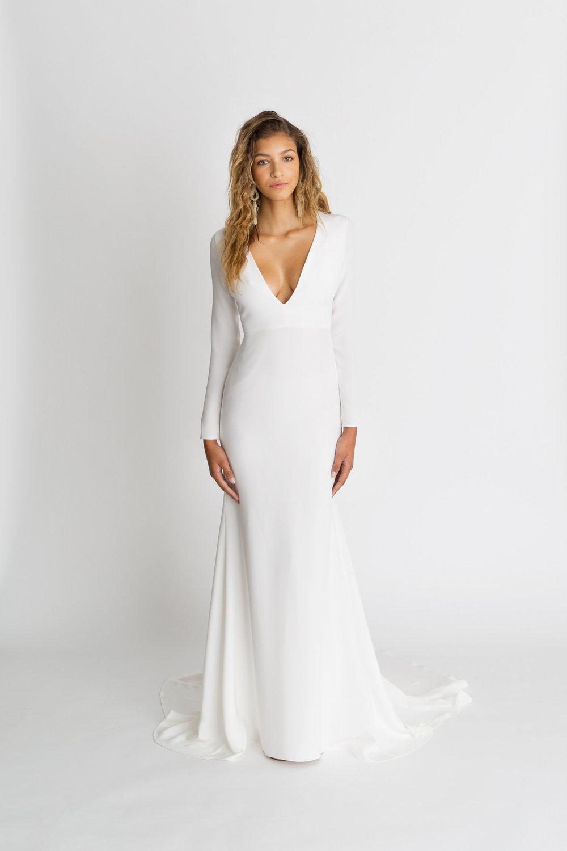 Alexandra Grecco Celine Dress | Crepe Wedding Gowns
