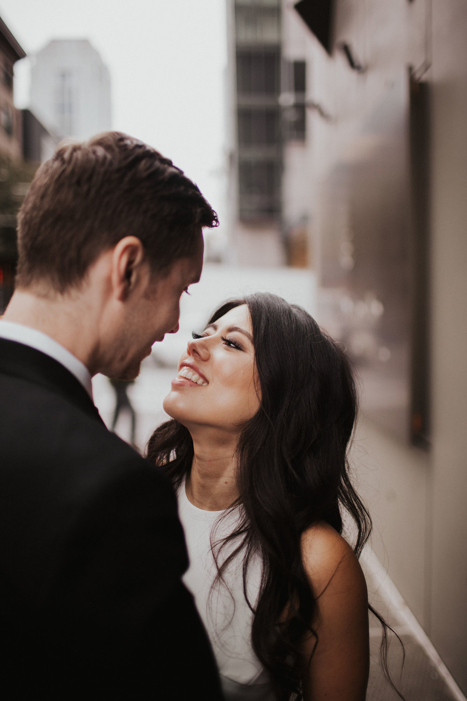 Urban Wedding Photos Seattle | Downtown Seattle Wedding Portraits