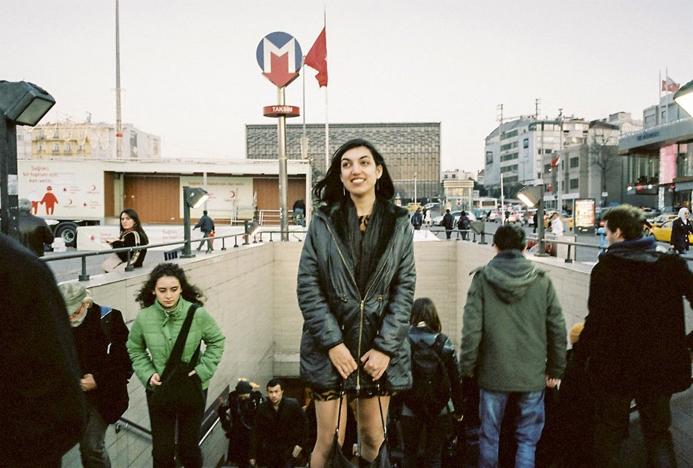 Author Elif Batuman in Taksim Square