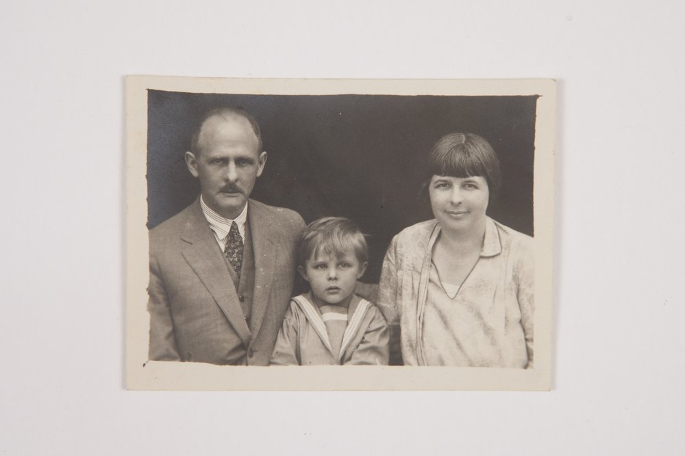 Family Photo taken for passport, 1926, Scott Family Collection
