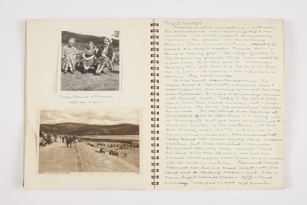 Eveline Thomson Scott's notes from her visits to various countries in Europe in 1949
