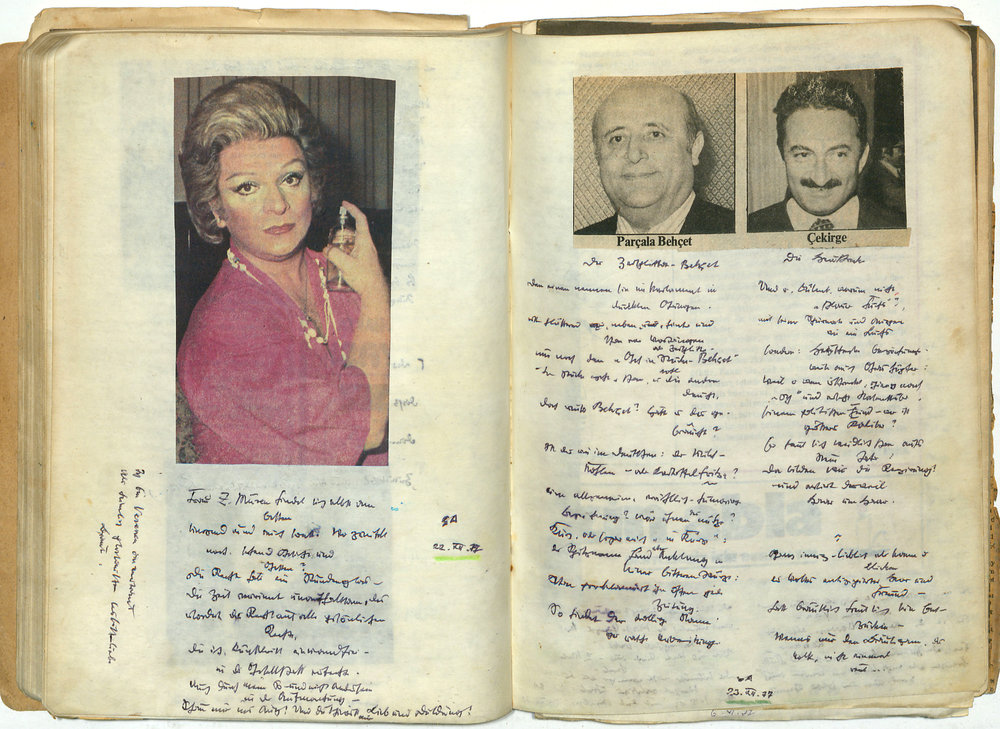 Excerpt from a Günaydın notebook of the years 1977/78
