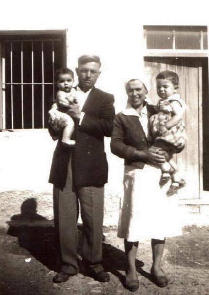 In Potamia, 1956, with my parents and brother.