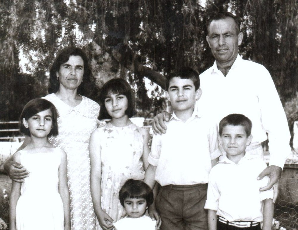 In Nicosia, 1969, with my parents and siblings.