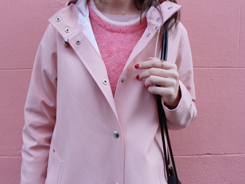 Nuestro chubasquero rosa de Stutterheim Raincoats