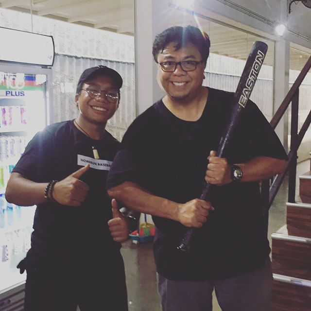 Look who visited us! Come down to the only baseball/ softball automated batting cage in Singapore! #homerunsg #Homerunbaseball
