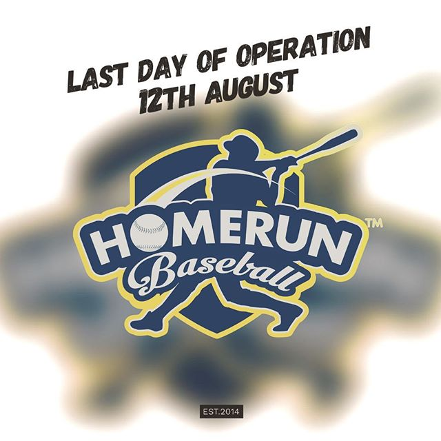 It is with great sadness that we announce the cease of operation of  Homerun Baseball. The last day of operation is on the 12th August 2018. This comes as a shock to us as our Master Landlord, LHN has decided to discontinued the lease with Singapore Land Authority (SLA). We are currently searching for a new location where we can fit more lefty lanes, softball slow pitch, fully air-conditioned and in-house F&B. Please give us sometime to do so as we were informed to vacate in end June.  We would like to take this opportunity to display our heartfelt appreciation to all our 15,000 members and other customers support for the past 4 years. Thank you very much everyone who have visited us and showered us with your unwavering support. We will continue to strive to serve you better in all ways and it shall remain as our goal, always! Until we meet again fellow Singaporeans, don't forget that you once played an unique sport with Homerun Baseball! Swing, swing, batter up! #homerunsg #homerunbaseball