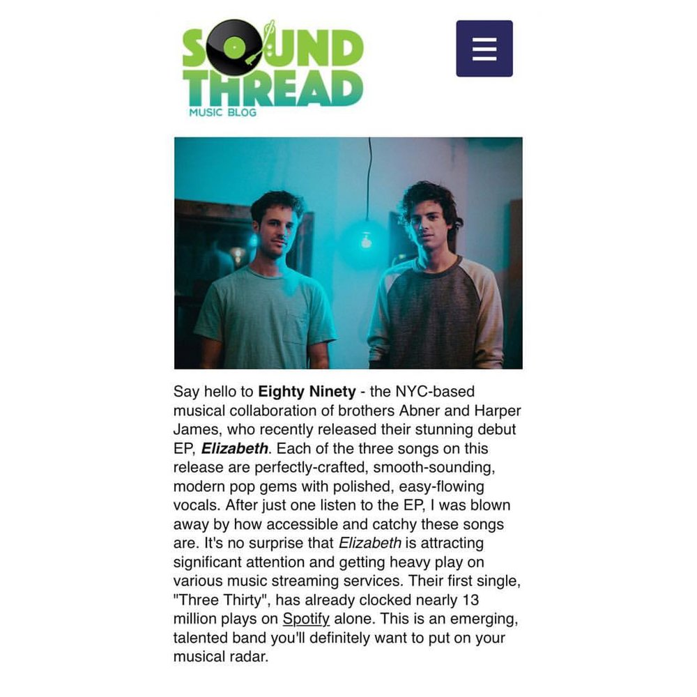 💘 @soundthreadblog for the review and chat!
