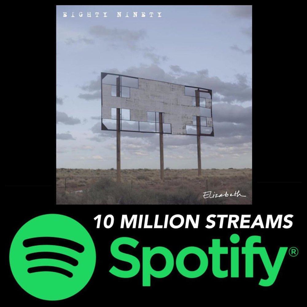 "Our debut EP ""Elizabeth"" hit 10 million streams today. So much 💚 and 🙏 to @spotify and everyone listening. Working on new music and planning shows. What a way to go into the weekend. See you soon."